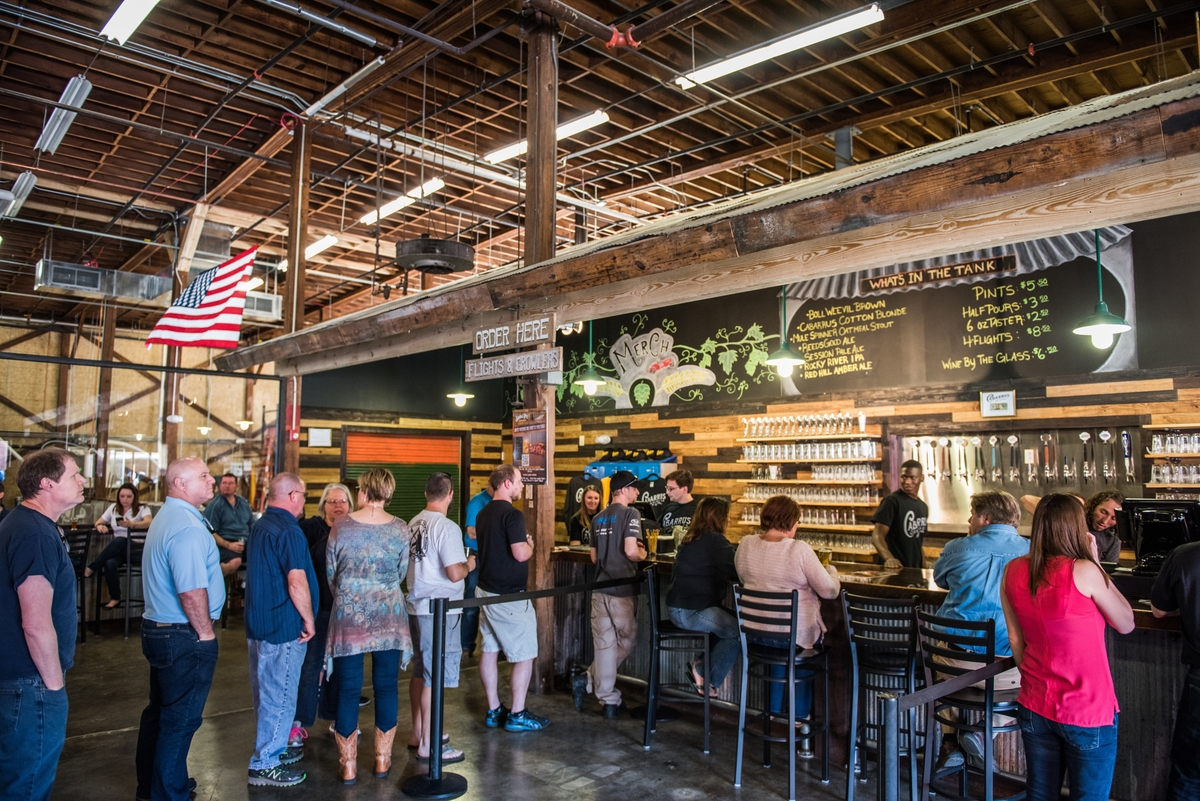 The Grand Opening of Cabarrus Brewing Company in Concord, NC on March 18, 2016.